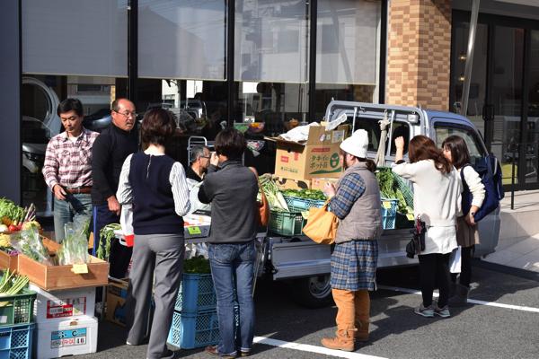広島宇品美容室PROSOL産直朝市24Dec 23 2015