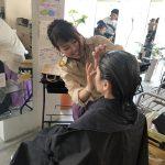 美容室美容院の広島県廿日市市にあるプロッソル廿日市店ディレクターの寺岡和人が撮影会でカット、カラーをしてスタイリングをしました。