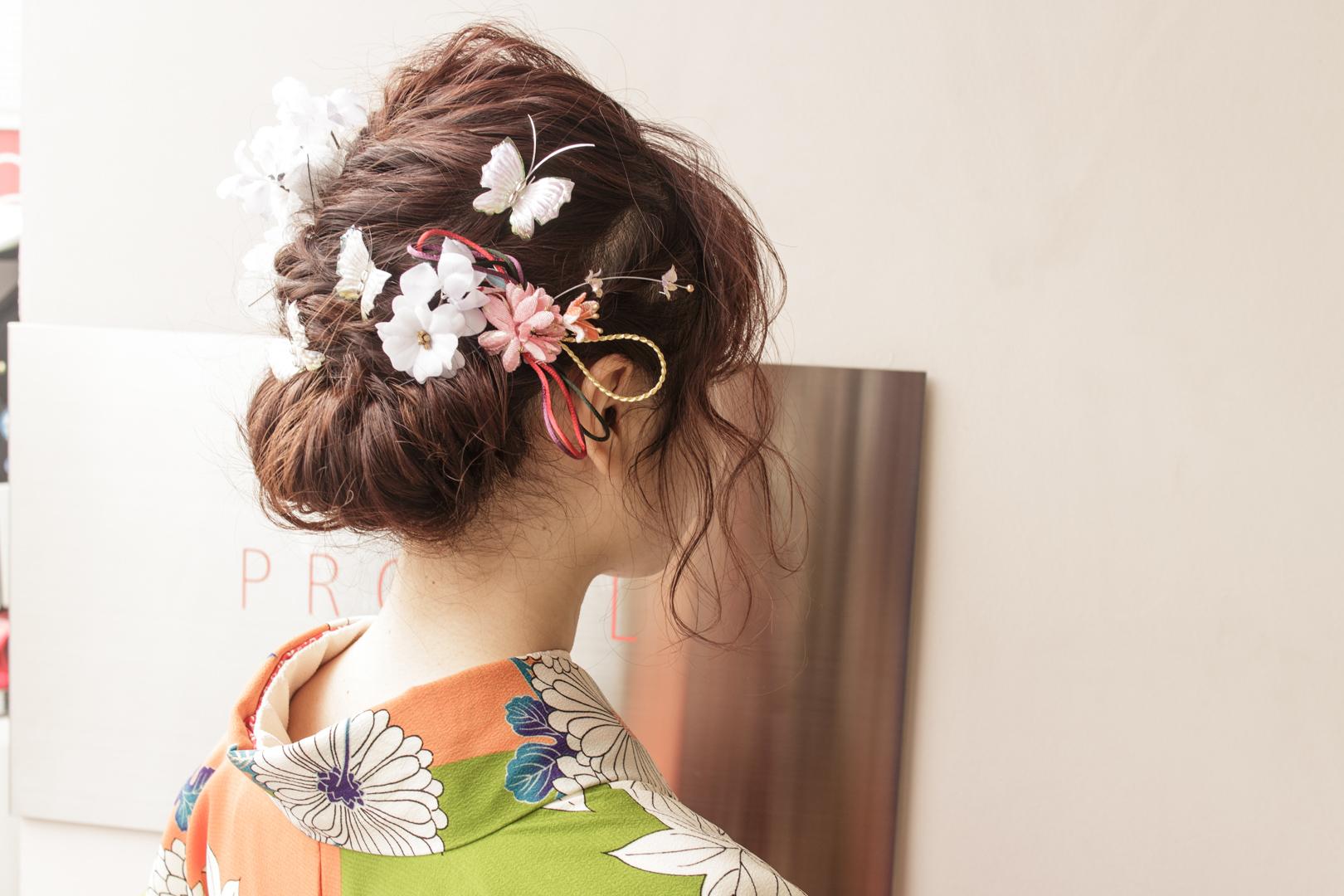袴 卒業 髪型 式