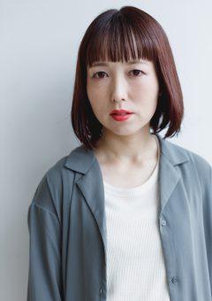 広島県広島市廿日市で6店舗美容室美容院を展開しているプロッソルの撮影会でピンクパープルボブスタイルの切りっぱなしスタイルを行いました