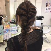 広島市安佐南区にあるプロッソル山本店のロングヘアのヘアアレンジです。
